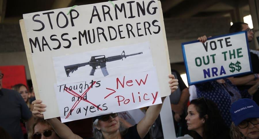 Protestas en Estados Unidos por el control de armas