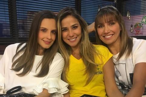 Laura Acuña, Zahira Benavides y Adriana Betancur, presentadoras.