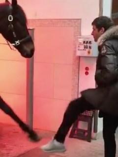 Thomas Muller y caballo