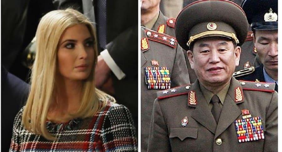 Ivanka Trump y general Kim Yong Chol