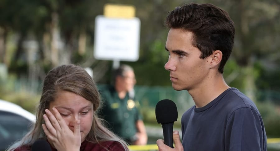 Kelsey Friend y David Hogg