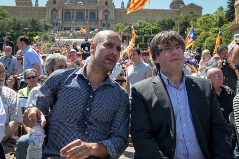 Pep Guardiola y Carles Puigdemont