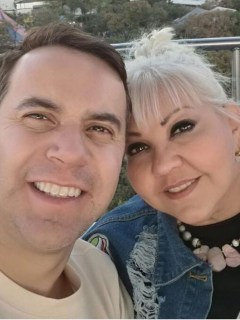 'Polilla' y su esposa 'la Gorda Fabiola', humoristas de 'Sábados felices'.