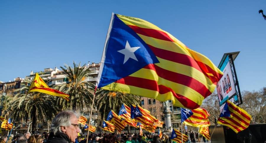 Manifestación independentista en Barcelona