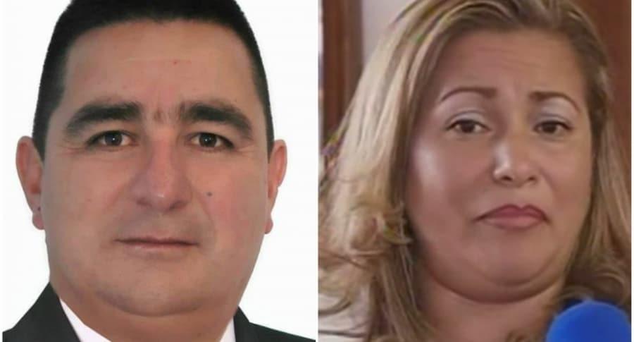 Pablo Ferro, concejal de Chocontá. / Dolly Gutiérrez, mujer agredida por el cabildante.