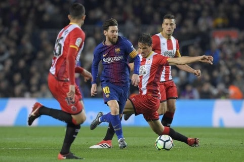 Messi y Bernardo Espinosa