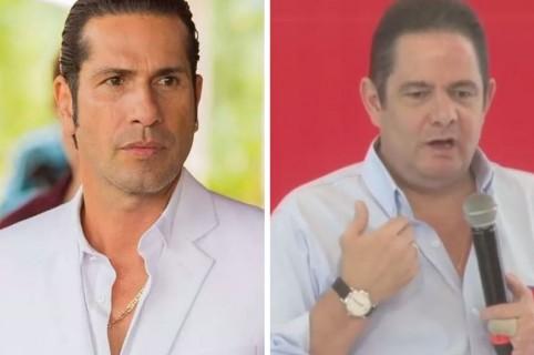 Gegorio Pernía, actor coclombiano, y Germán Vargas Lleras, candidato presidencial
