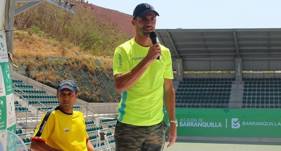 Colombia dice ambiente de Barranquilla lo favorece en Copa Davis ante Brasil