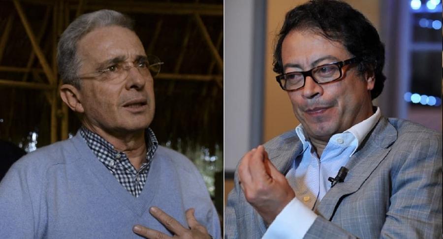 Álvaro Uribe, expresidente, y Gustavo Petro, exalcalde de Bogotá.