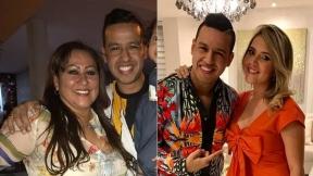 Patricia Acosta y Dayana Jaimes, madre y esposa del cantante Martín Elías (Q.E.P.D.)
