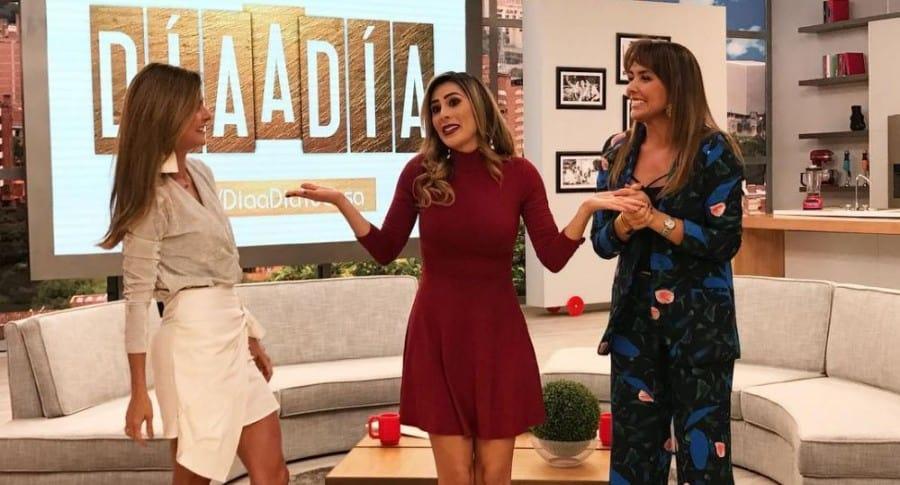 Catalina Gómez, Carolina Soto y Mónica Rodríguez, presentadoras.