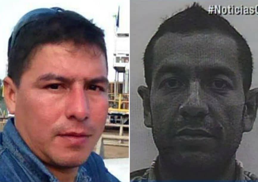 A la izquierda, Fray Mauricio Bravo Plazas. A la derecha, foto del hombre con circular roja. / Facebook: Fray Mauricio Bravo Plazas - Noticias Caracol.