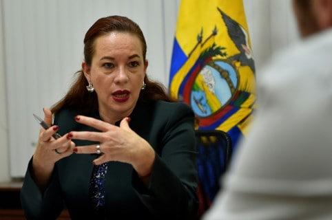 Maria Fernanda Espinosa, ministra de Relaciones Exteriores de Ecuador