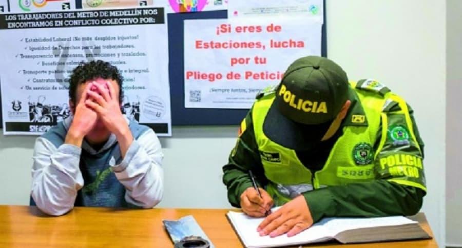 Supuesto abusador de mujer en metro de Medellín