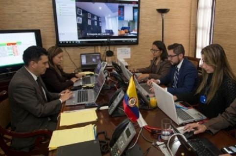 Sala de Coordinación para el Proceso Electoral de la Cancillería