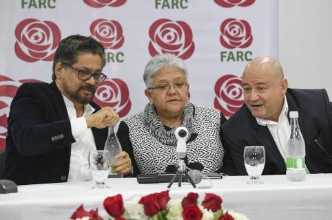 'Iván Márquez', Imelda Daza y 'Carlos Lozada'.
