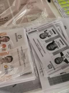 Tarjetones elecciones 2018