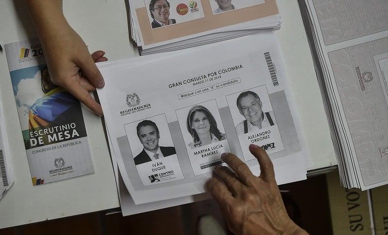 Tarjetón para la  'Gran Consulta por Colombia