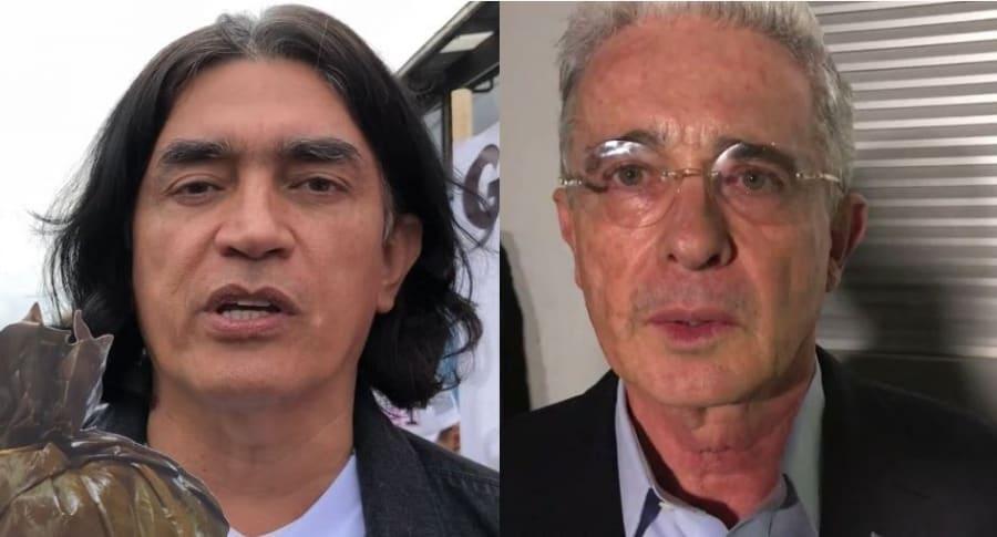 Gustavo Bolívar y Álvaro Uribe