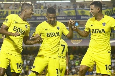 Wilmar Barrios, Frank Fabra y Edwin Cardona