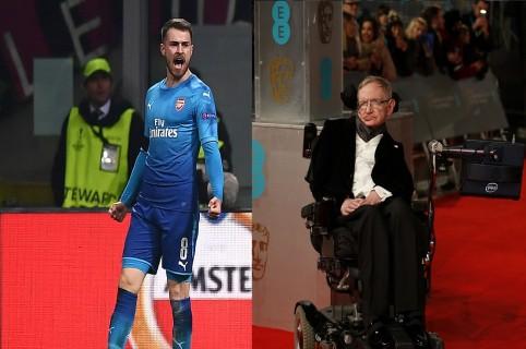 Aaron Ramsey y Stephen Hawking