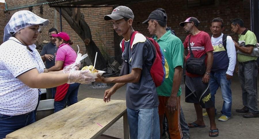 Refugio de venezolanos en Cúcuta.