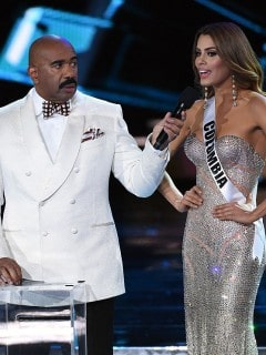 Steve Harvey y Ariadna Gutiérrez