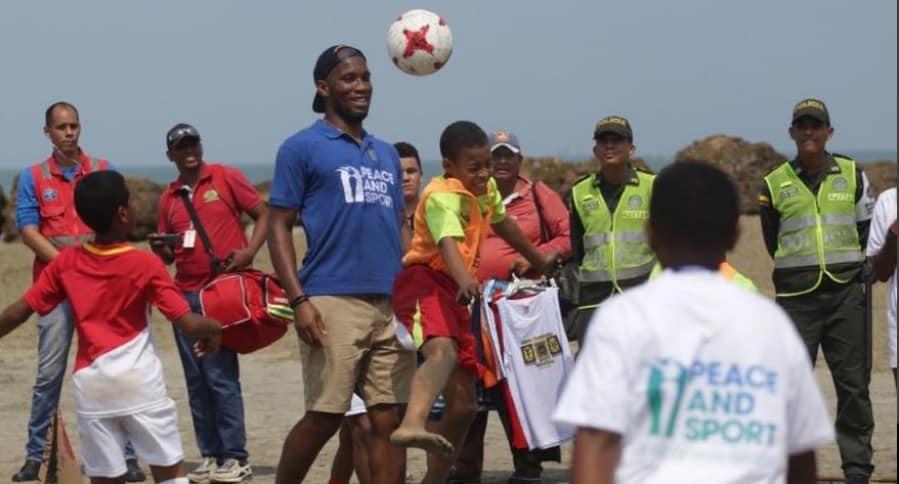 futbolista Didier Drogba en Cartagena