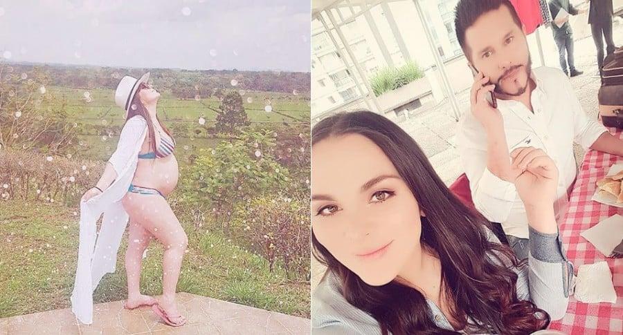 Michelle Gutty, bailarina, y su esposo, el actor y presentador Marcelo Cezán.