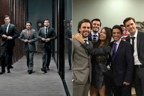 Rodrigo Candamil, Mario Ruiz, Luciano D'Alessandro, Iván López y Shirley Gómez, actores.