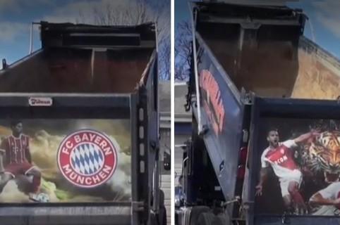 Camión de James y Falcao