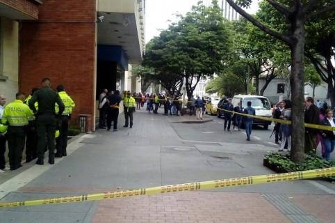 Balacera en centro de Bogotá