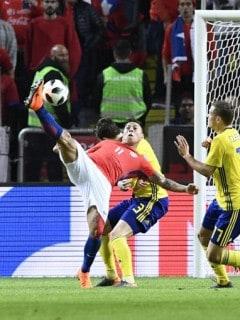 Partido amistoso entre Chile y Suecia