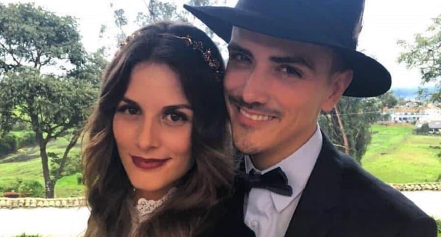 Natalia Jerez y Juan Fernando Sánchez, actores y exesposos.