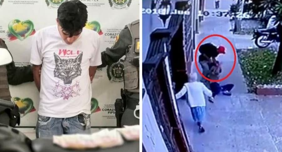 Captura de ladrón que arrastró a mujer en robo