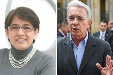 Yolanda Ruíz y Álvaro Uribe