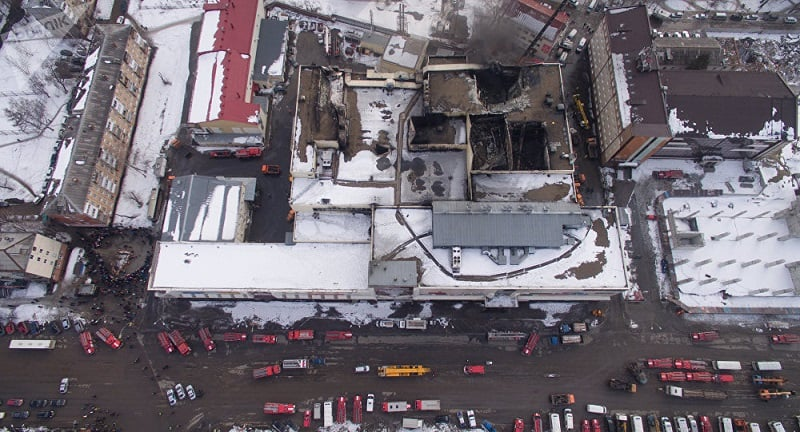 Incendio centro comercial Siberia.