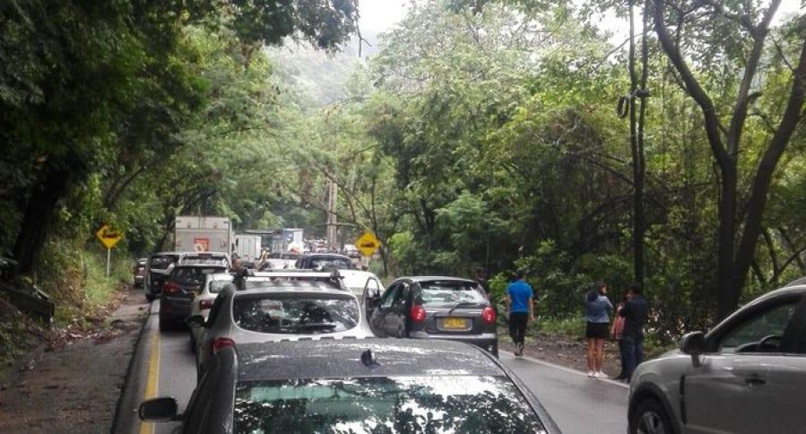 Vehículos detenidos por accidente