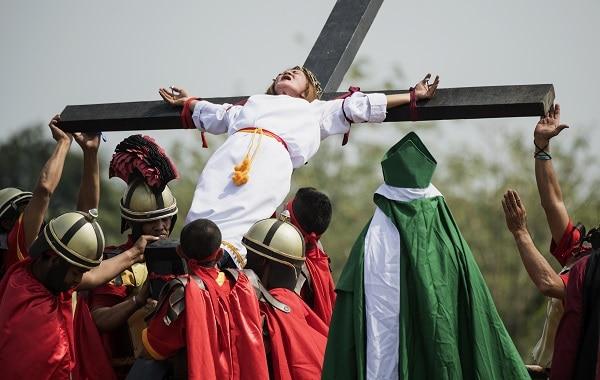 Celebración viernes santo en Filipinas.