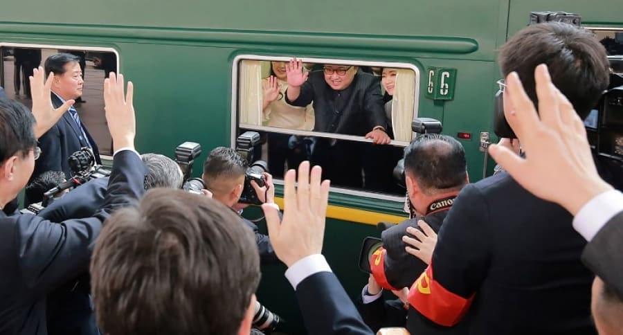 Kim Jong-un en tren a China