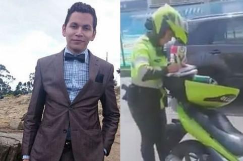 Hernando Zabaleta y patrullera Karen Granados