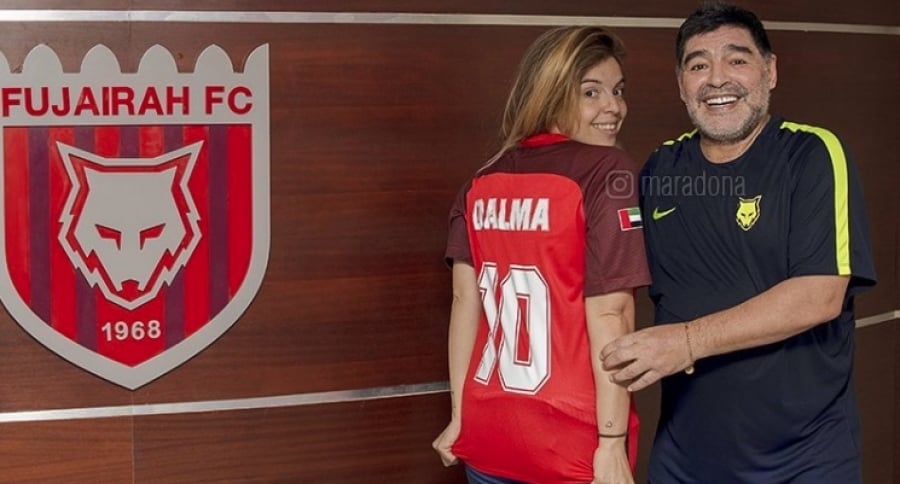 Diego Maradona y su hija Dalma