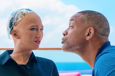 Sophia the robot y Will Smith