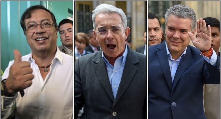 Gustavo Petro, Álvaro Uribe e Iván Duque