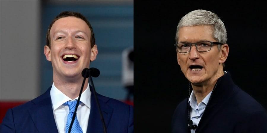 Zuckerberg y Cook