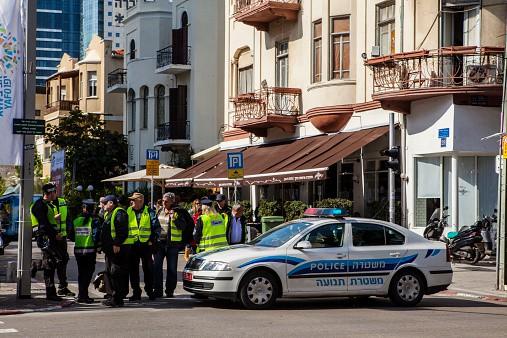 Policía en Tel Aviv, Israel