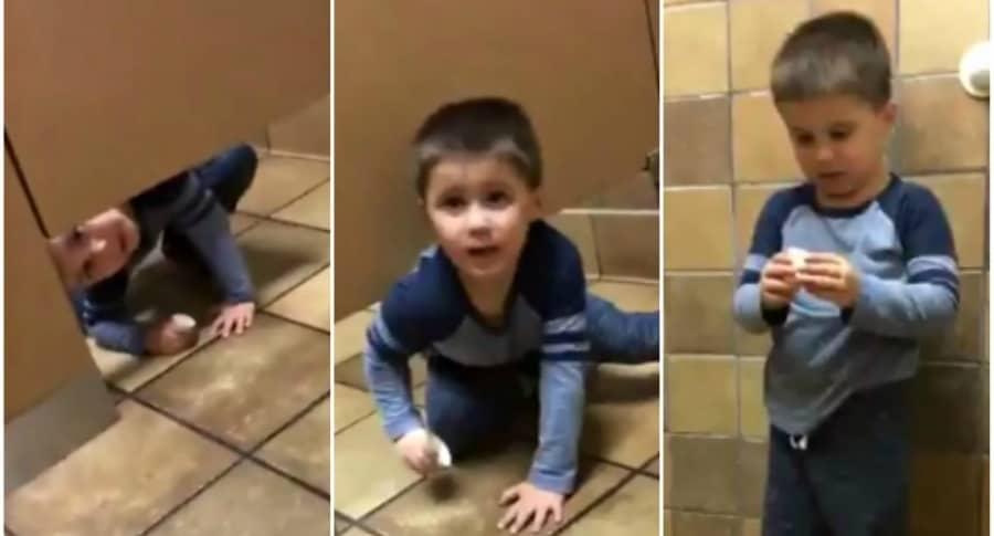 Niño entra al baño de un desconocido.