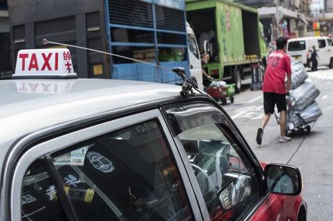 Taxi en Mong Kok, Hong Kong