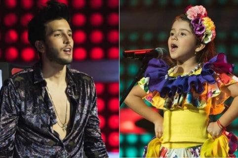 Sebastián Yatra, cantante, Ellie, participante de 'La voz kids' 2018.