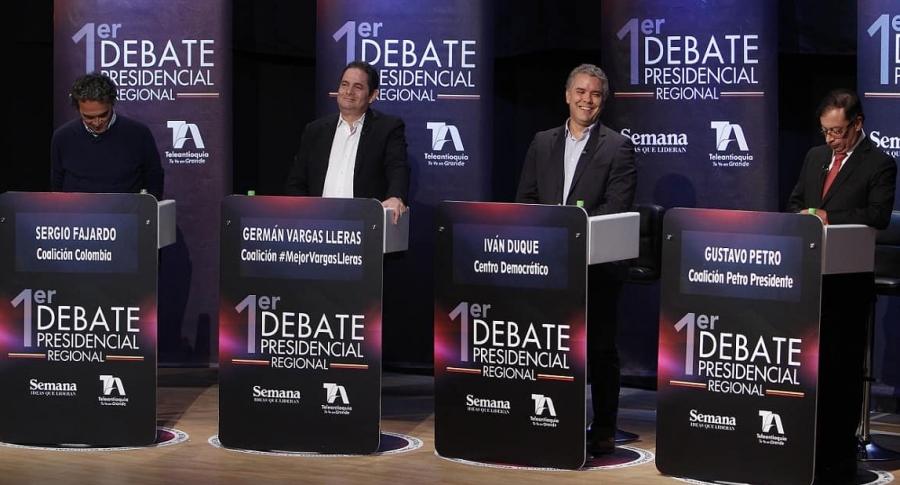 Debate televisivo entre los candidatos a la Presidencia de Colombia